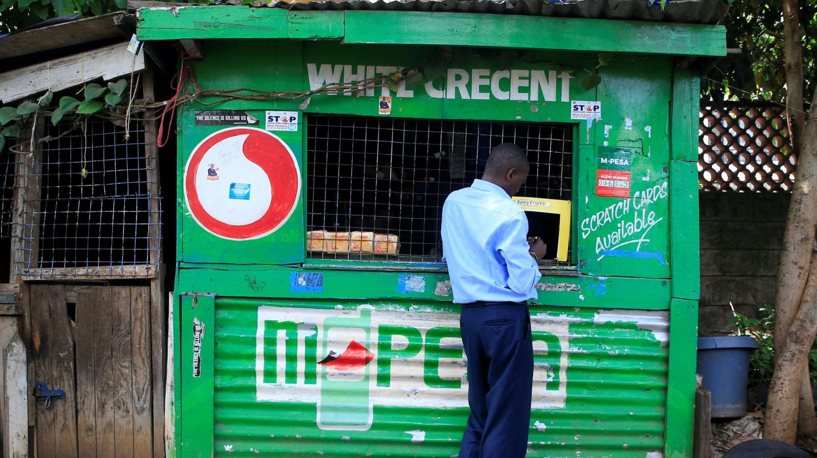 Un kiosque M-Pesa