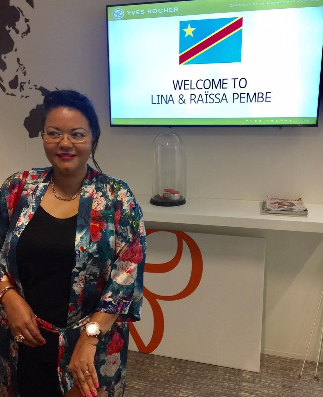 Lina Pembe chez Yves Rocher